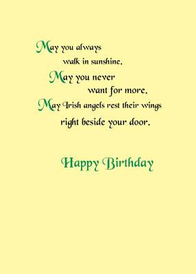 4435 Irish Birthday Blessings