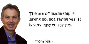 ... leadership is saying no, not saying yes. It is very easy to say yes