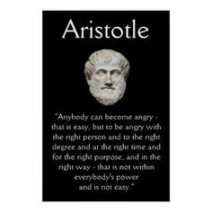 Aristotle - Anger Management Quote Poster | Zazzle.co.uk More