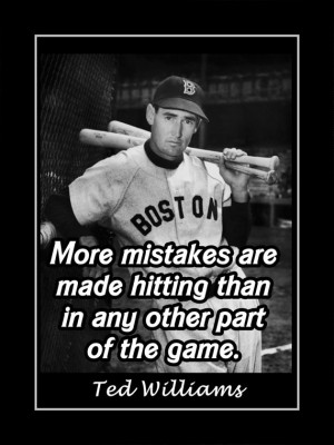 Baseball Motivation Poster Ted Williams Boston Red Sox Photo Quote ...