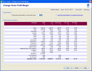 Forecasted Gross Profit for all quotes prepared.