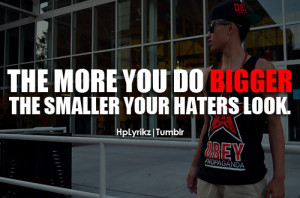 Tyga Quotes About Haters Tyga quotes about haters smaller your haters ...