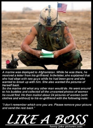 Funny Marine Breakup Caption Picture