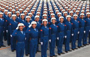 PLA air force pilots salute during a training session for China's ...