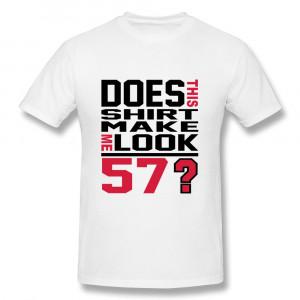 Short Sleeve T-Shirt Men's birthday 57 Funny Quote T Shirts Men(China ...