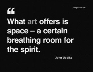 Quote by John Updike   http://www.designhoover.com/