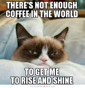 ... coffee in the world to get me to rise and shine Picture Quote #1