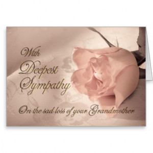 Sympathy card on the death of a grandmother