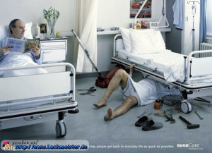 Mechaniker im Krankenhaus