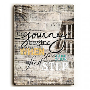 The Journey Begins When: Inspirational Art & Quotes for Kids