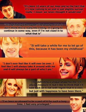 Harry Potter Casts Quotes