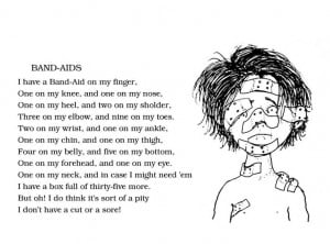 Shel Silverstein - Band-Aids. Oh how my sweet little Charli loves Band ...