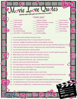 Movie Love Quotes Game