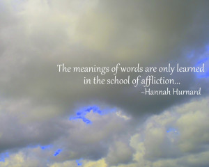 The meanings of words...