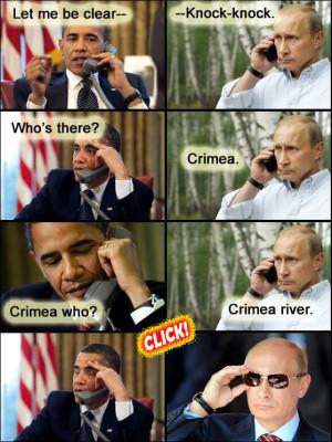 Knock knock who's there? Crimea…