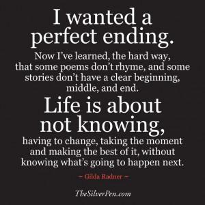 Gilda Radner quote | The Silver Pen