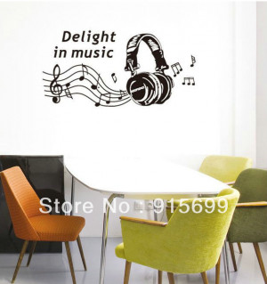 Funny-Wall-Decal-Music-Wall-Stickers-Deccals-for-Living-Room-Wall ...