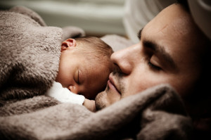 Cute Baby & Father HD Desktop