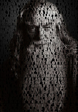 Lord Of The Rings Hobbit Gandalf Quotes Art Pint - Wall Art Print ...
