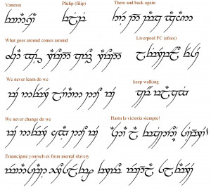 Is Lord Of The Rings Elvish A Real Language