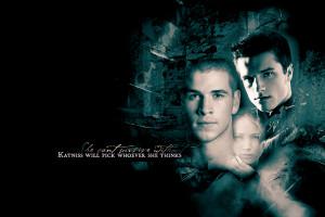 The Hunger Games Gale, Katniss and Peeta