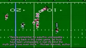 And being the greatest video game athlete ever added to the lore