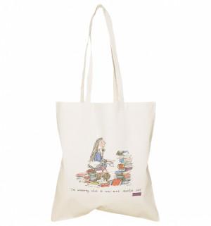 Detalles de Oficial Roald Dahl Matilda citar Canvas Tote Bag - ver ...