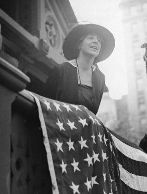 Jeannette Rankin seen at a rally in Union Square, NY. (Photo from ...