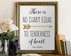 Jane Austen quote PRINT art wall de cor Wall printable inspirational ...