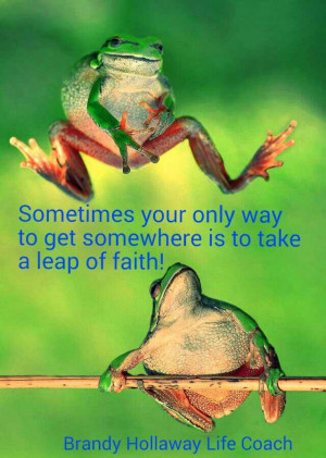 Leap of faith. ...BH♡