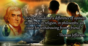 Thomas Jefferson Quote on Differences in Politics, Religion, and ...