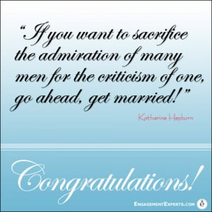 Congratulations card with Quote from Katharine Hepburn