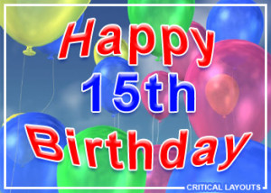 Related Pictures 15th happy birthday graphics