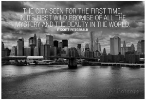 Scott Fitzgerald New York Quote Poster