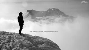 standing mountain peek quote