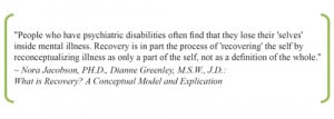 finnd that they lose their 'selves' inside mental illness. Recovery ...