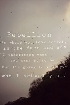 Rebellious Quotes Tumblr Rebellion quote i put together