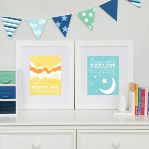 Beatles Nursery Prints // Golden Slumbers, Quote by The Beatles // Set ...
