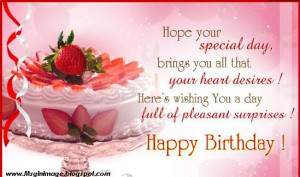 Happy Birthday Picture with Quotes and Message