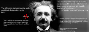 Einstein The difference between genius and stupidity is that genius ...