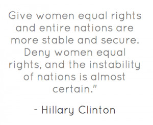 Give women equal rights and entire nations are more stable