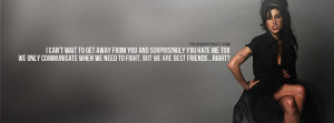 Amy Winehouse Best Friends Quote Facebook Cover