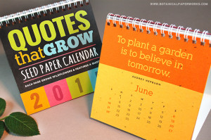 NEW! Quotes That Grow Plantable Calendar