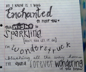 enchanted, quotes, taylor swift