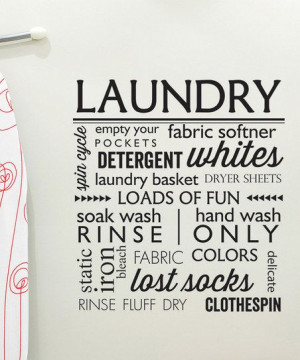 Laundry' Wall Decal