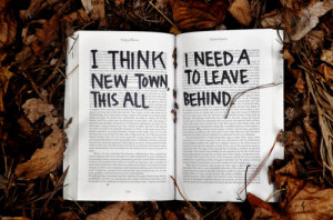book, life, love, new town, quote