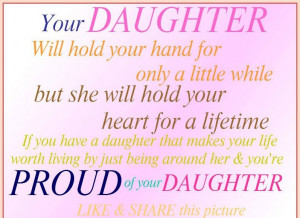 Am Proud Of My Daughter Quotes