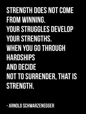 Motivational Bodybuilding Quote from Arnold Schwarzenegger Numero 5:
