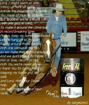 Barrel Racer's Prayer