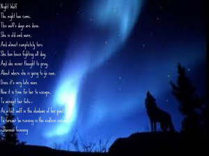 Poem dedicated to lost wolves